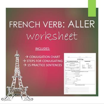 French ALLER VERB Worksheet for Beginners
