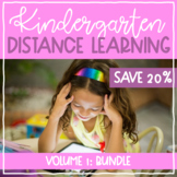 Kindergarten Distance Learning BUNDLE! // French AND English