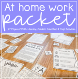 French AND English At Home Work Packet // Stress Free Dist