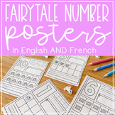 French AND English Fairytale Number Posters // Kindergarten Math