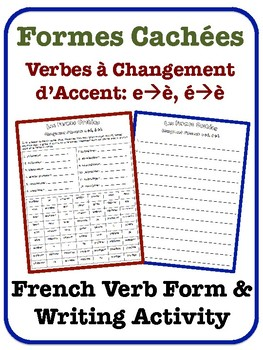 French Accent-Change Verb Writing Activity (e-è, é-è)