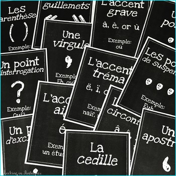 French Posters: Accent Marks - High Res Classroom Decor