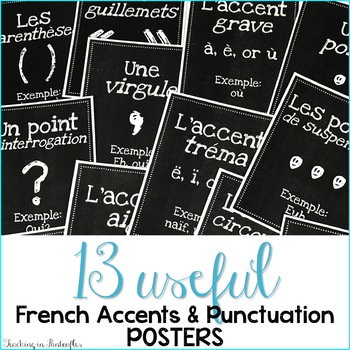 French Accent Marks Poster - High Res