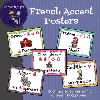 French Accent Posters