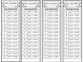 French Accents | 2-sided bookmark