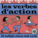 French Action Verbs BOOM Cards for Distance Learning