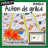 French – Action de grâce BUNDLE – Activities