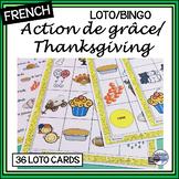 French – Action de grâce – Thanksgiving – LOTO – un jeu
