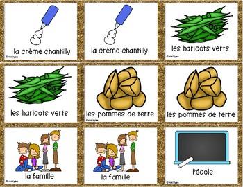 French - Action de grâce - Thanksgiving - jeu des paires - game