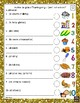 French – Action de grâce – Thanksgiving – word scramble