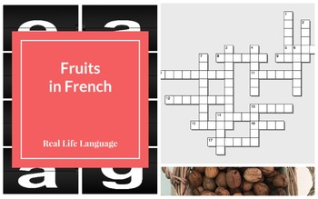 French Fruits Power Point Presentation and Crosswords