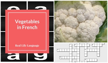 French Vegetables Power Point Presentation and Crosswords