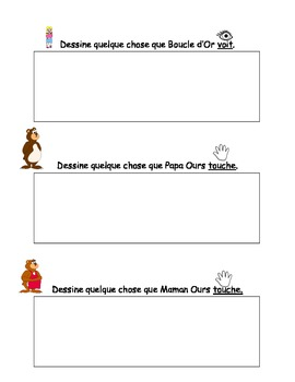 French Activity book Boucle d'or & Les 5 sens (Notebook story available)