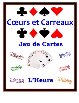 French Time Speaking Activity: Playing Cards, Groups