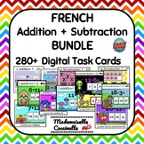 French Addition + Subtraction (to 20) BOOM cards - 12 games!