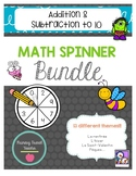 French Addition & Subtraction to 10 Math Spinner Bundle!!