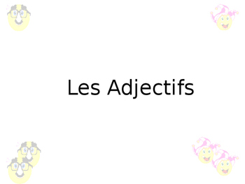French Adjective Agreement Guided Notes