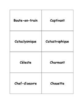 French Adjective Cards