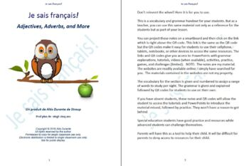 French Adjectives, Adverbs and More