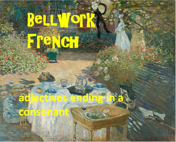French Adjectives BELLWORK Bundle