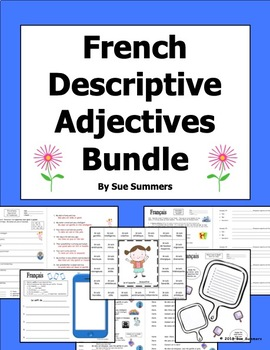 French Adjectives Bundle - Descriptive Adjectives - Les Adjectifs