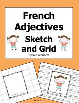 French Adjectives Sketch and Grid