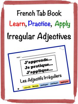French Adjectives (Irregular) Tab Book