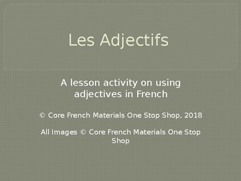 French Adjectives Lesson PowerPoint