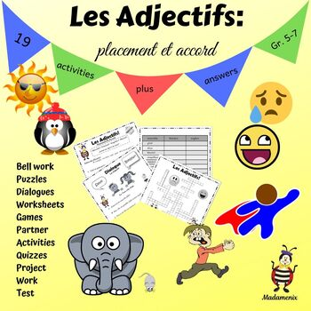 French Adjectives Meanings Agreement And Placement By Madamenix