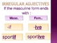French Adjectives PowerPoint Notes