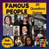 Famous Francophones, Famous People Review Game and Researc