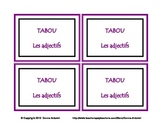 French Adjectives TABOU Game Cards