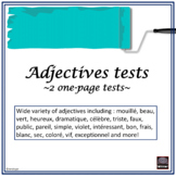 French Adjectives Test – les adjectifs