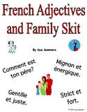 French Adjectives and Family Skit / Role Play - Friend Interviewing Friend