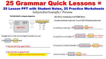 French Advanced Grammar Lessons (not verbs): 25 Quick Lessons Bundled