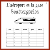 French Airport and Train Station Scattergories Game - L'Aé
