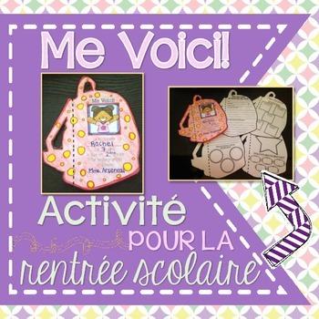 French All About Me Back-to-School Booklet (ME VOICI) - La rentrée scolaire