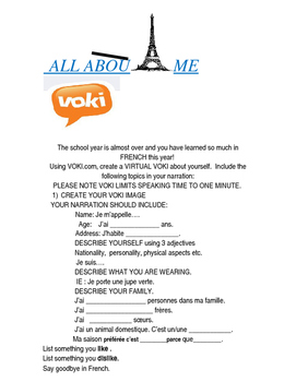 French: Virtual Voki Project