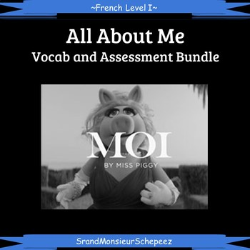 French: All About Me Vocab and Assessment Bundle