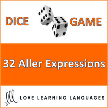 French Aller Expressions Dice Game - Jeu de Dés