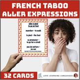 French Aller Expressions Taboo Game - Jeu de Tabou en Français