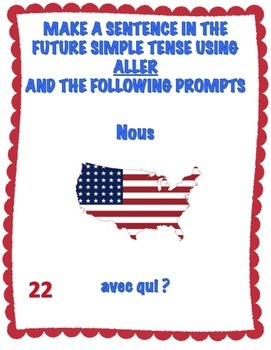 French Aller Expressions Task Cards - Advanced Level - Cartes à Tâches