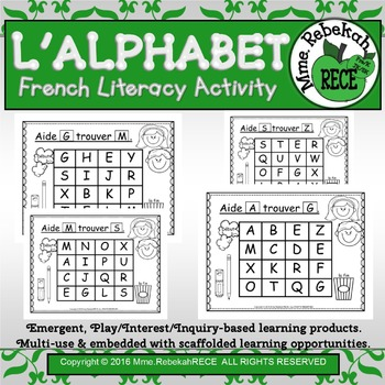 French Alphabet Activity Letter Maze