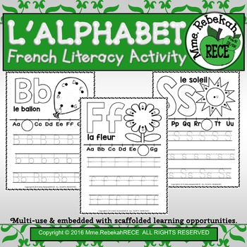 French Alphabet Activity Letters Practice Sheets