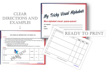 French ABC Alphabet Booklet with Handouts to Print