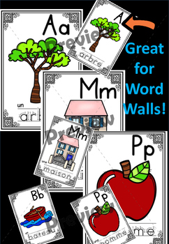 French Alphabet Cards - les cartes de alphabet
