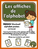 French Alphabet Letter Cards - les affiches de l'alphabet