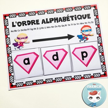 French Alphabet Center - ABC order mats and cards