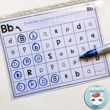French Alphabet Center - Letter Mazes