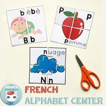 French Alphabet Center - Letter Puzzles